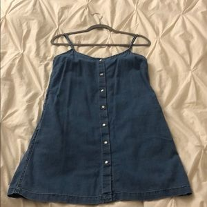 NWOT Wilfred Free Denim Button Dress